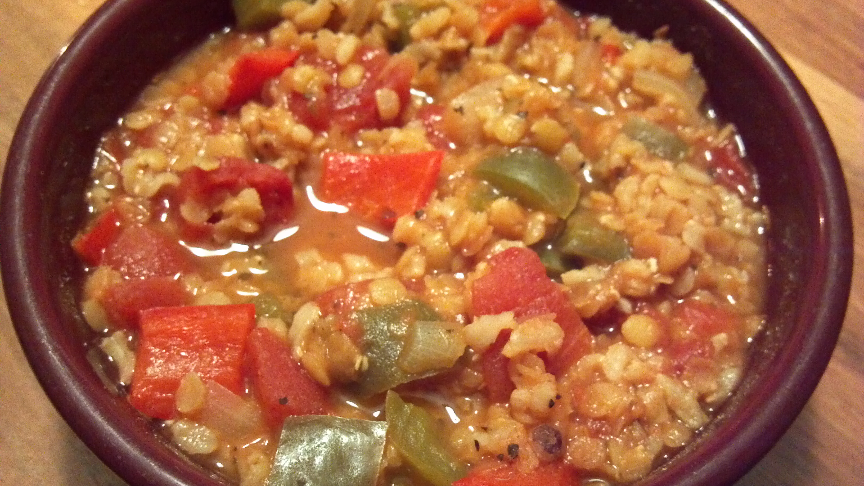 stuffed pepper lentil soup 2