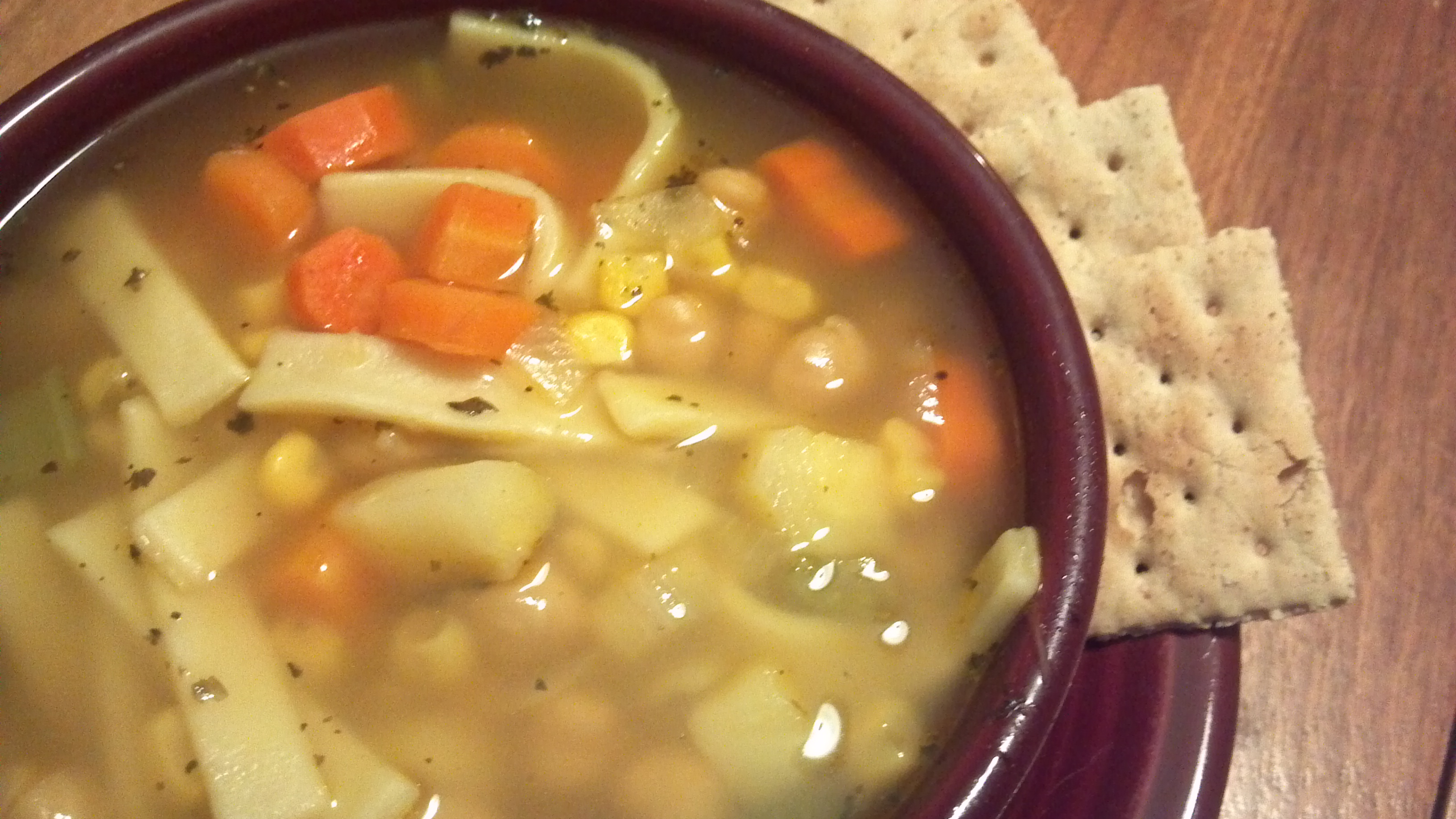 "No Chicken"" Noodle Chickpea Soup – Clean Eating Veggie Girl"