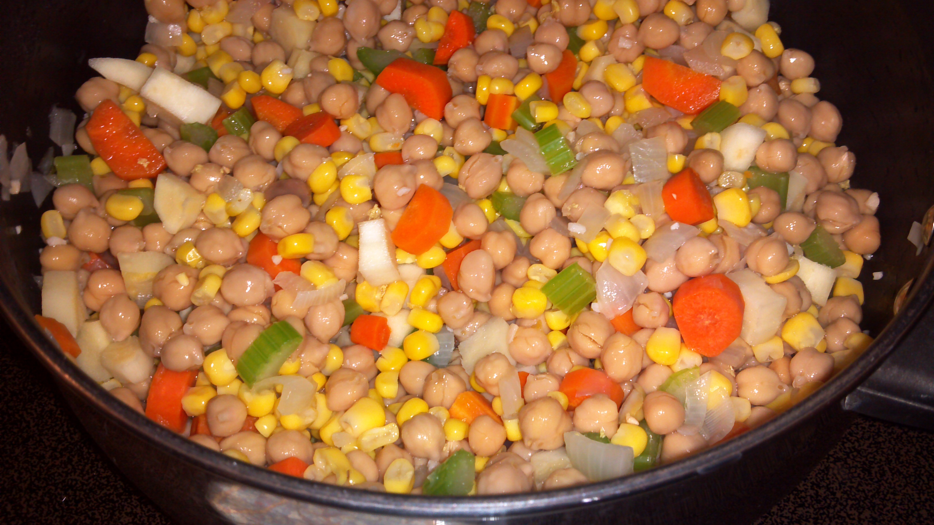 Add chickpeas, corn, water, Better Than Bouillon No Chicken Base ...