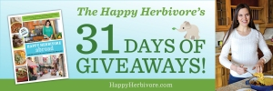 HappyHerbivore 31 days giveaways