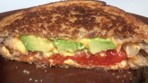 avocado tomato grilled cheese 2