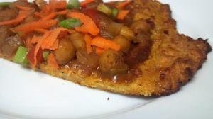 Thai chickpea pizza 10