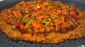 Thai chickpea pizza 3