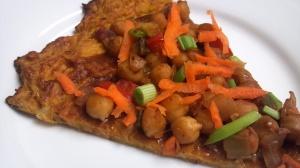 Thai chickpea pizza 6