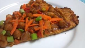 Thai chickpea pizza 8