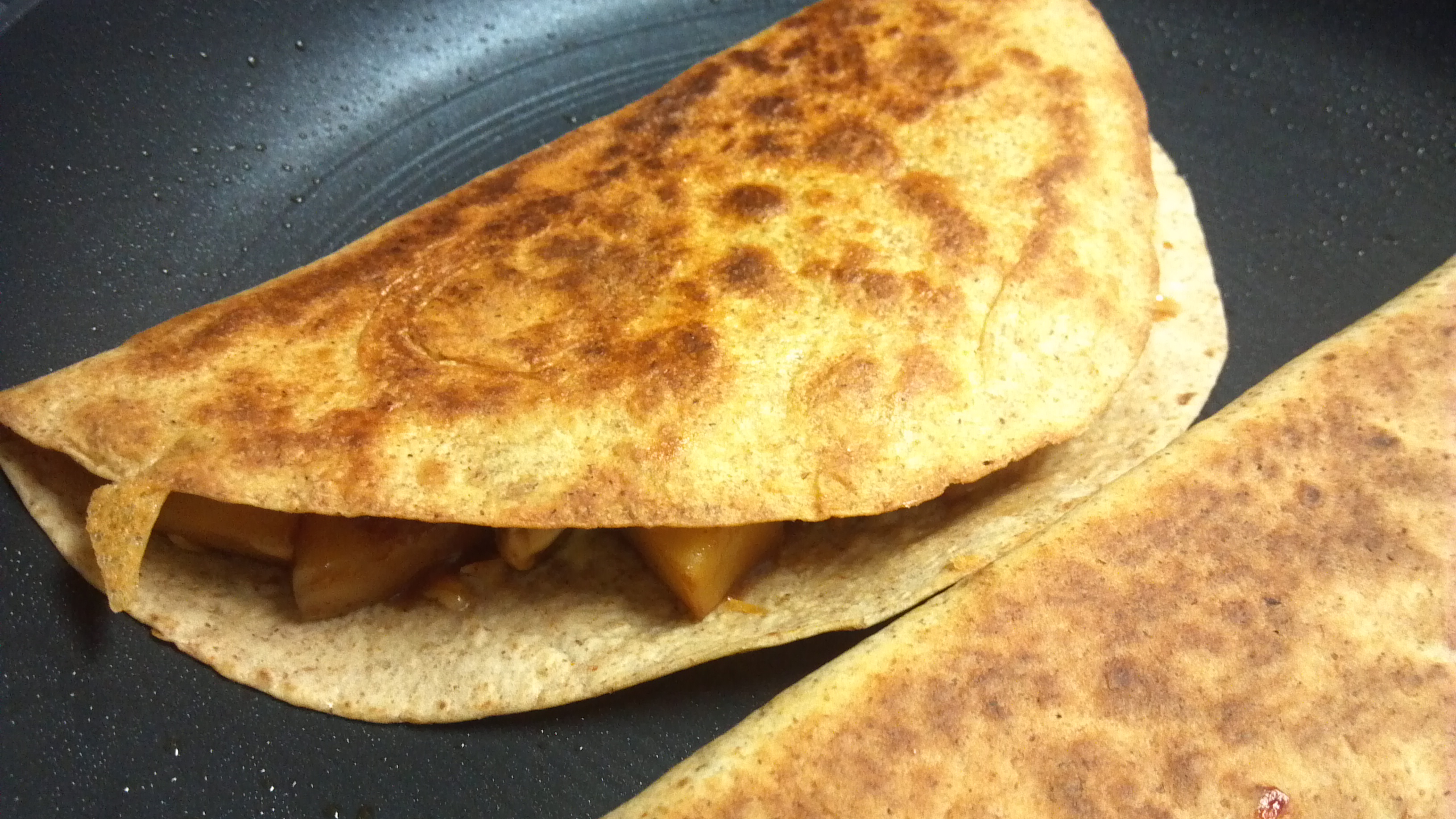 "BBQ ""Sausage"" and Apple Quesadillas – Clean Eating Veggie Girl"