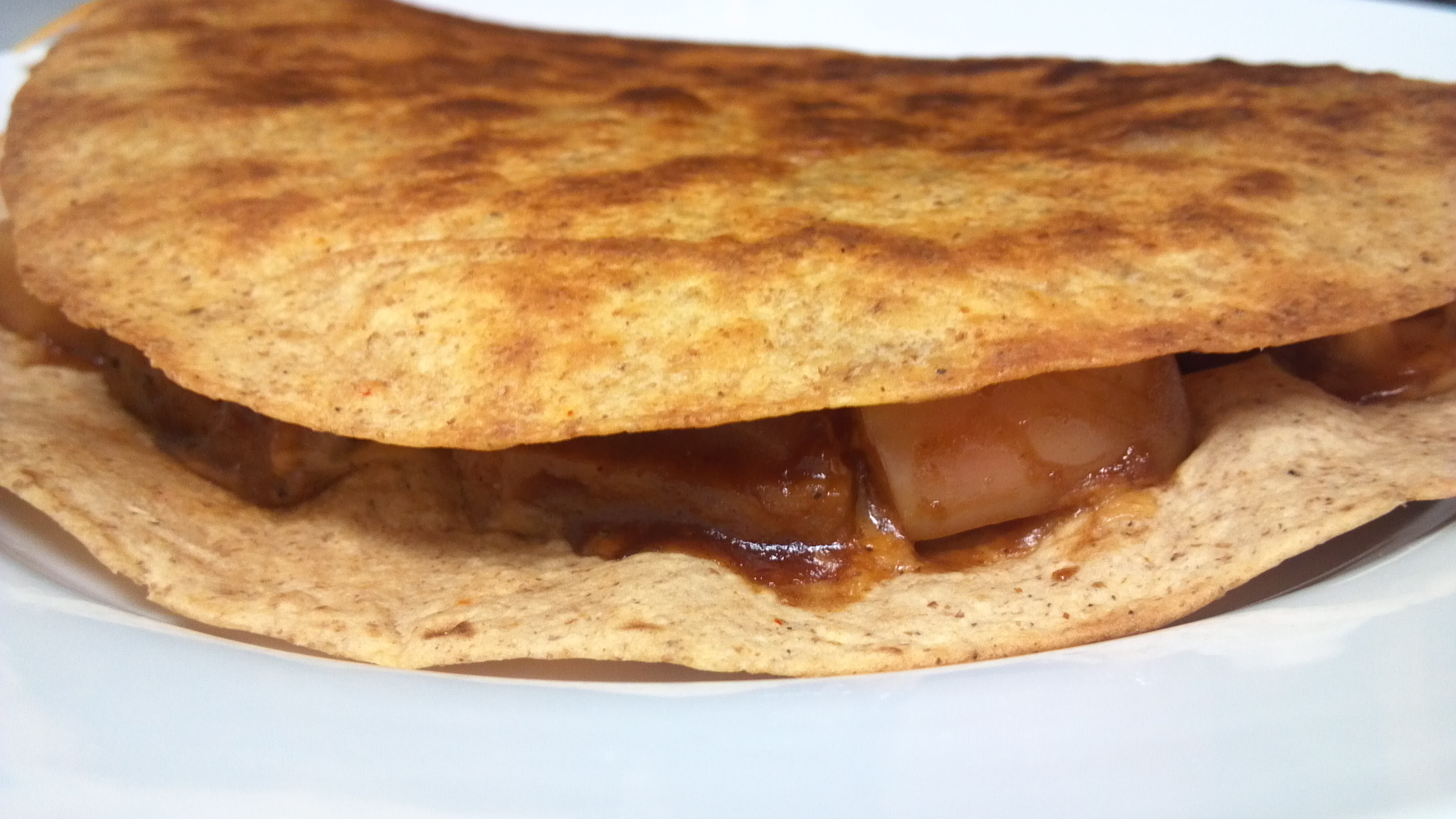 "BBQ ""Sausage"" and Apple Quesadillas - Clean Eating Veggie Girl"