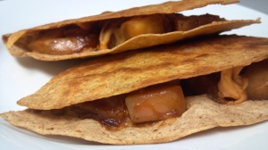 bbq sausage apple quesadilla 6
