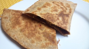 bbq sausage apple quesadilla 9