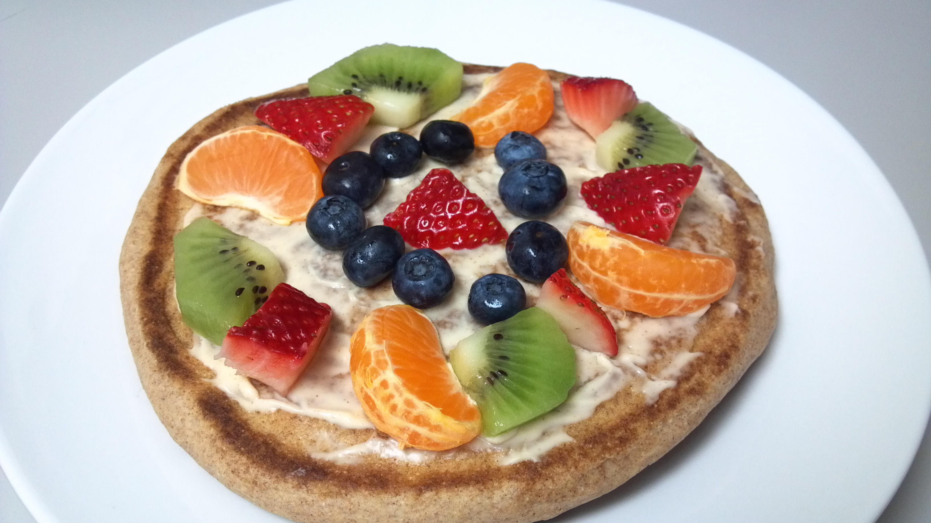 Fruit Pizza Whole Wheat Pancakes | Clean Eating Veggie Girl