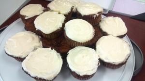 vegan carrot cake cupcakes picture