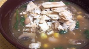 white bean mushroom chili 7