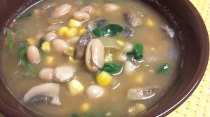white bean mushroom chili