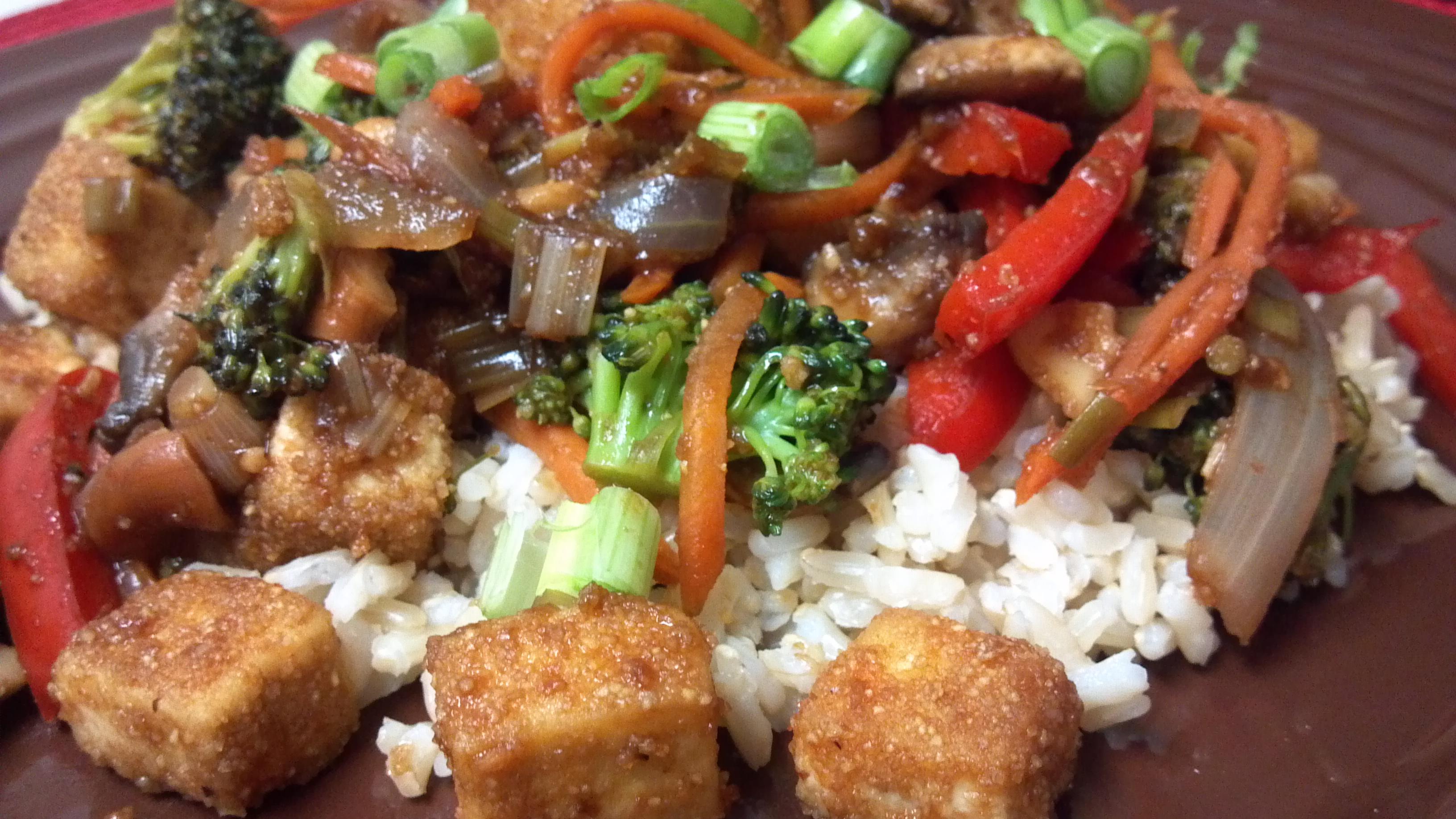 Kung Pao Tofu and Veggies - Clean Eating Veggie Girl