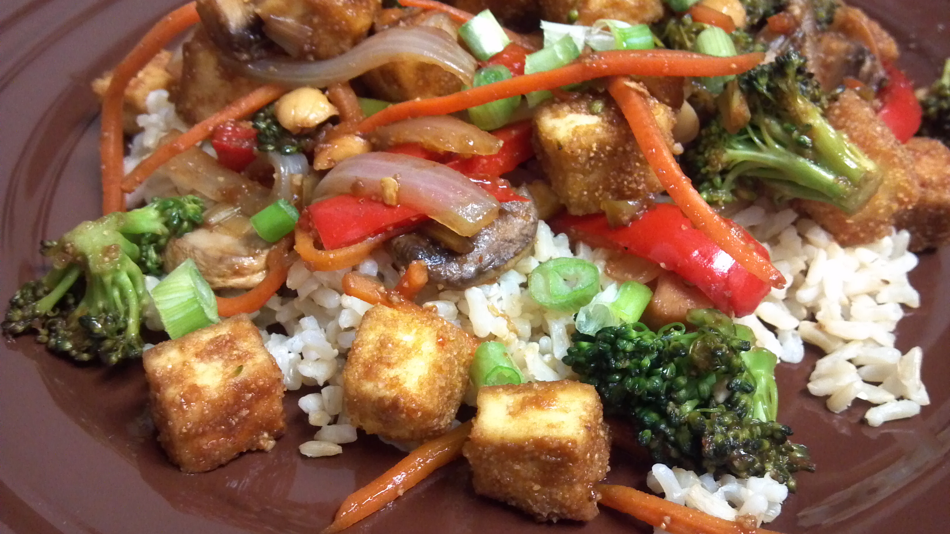 Kung Pao Tofu and Veggies - Clean Eating Veggie Girl