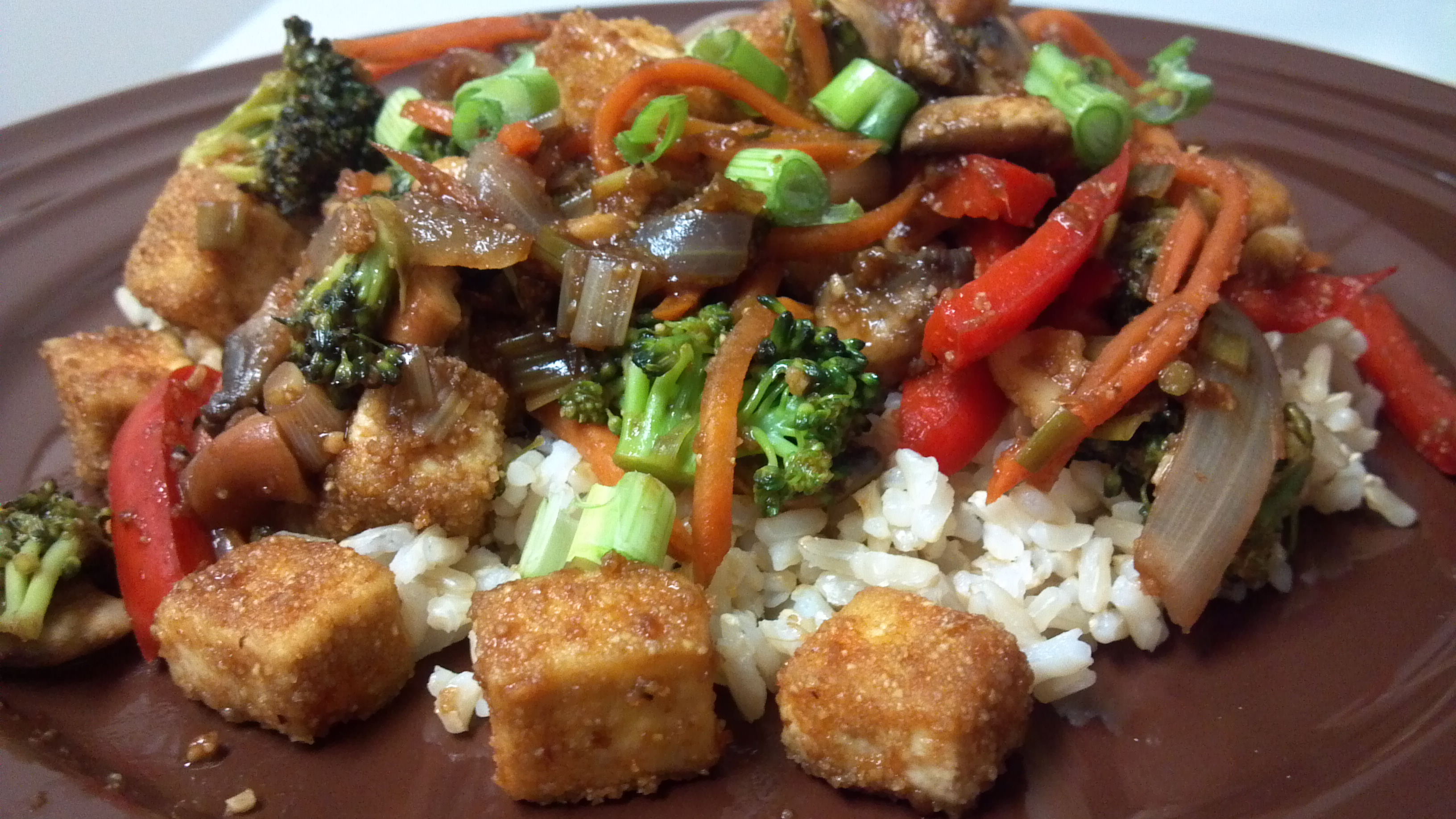 Kung Pao Tofu and Veggies | Clean Eating Veggie Girl