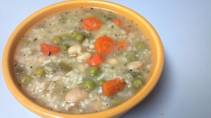 pea carrot rice soup 7 y