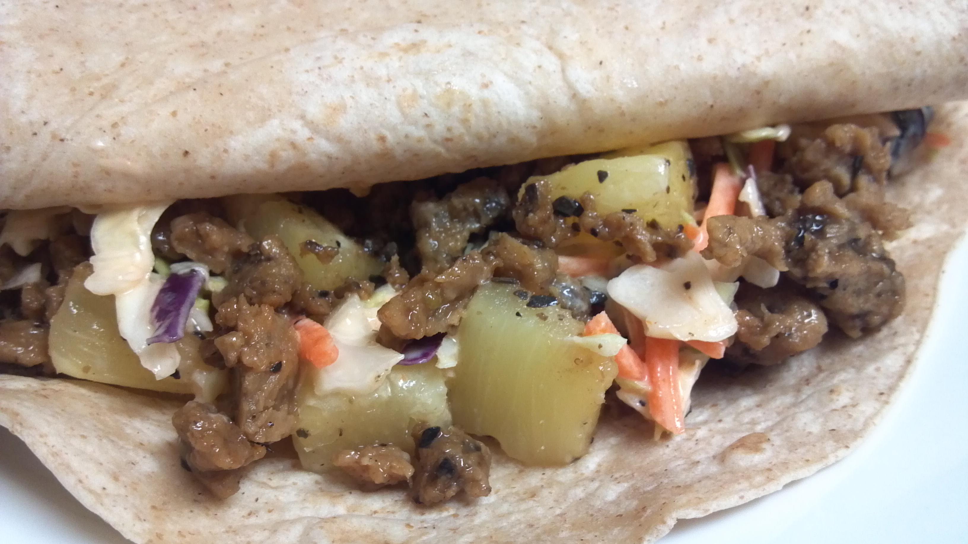 Seitan Tacos with Buffalo Coleslaw