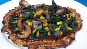 bbq veggie squash pizzas 2