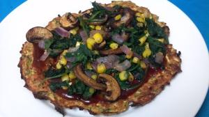 bbq veggie squash pizzas 4
