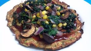 bbq veggie squash pizzas