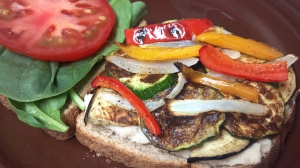 roasted veggie bean sandwich 2