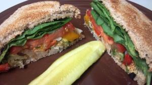 roasted veggie bean sandwich 7