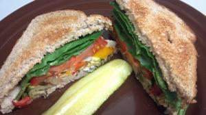 roasted veggie bean sandwich 9