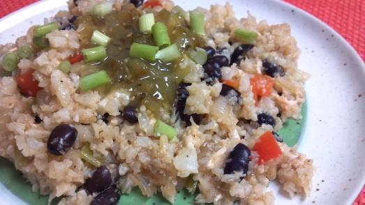 enchilada cauliflower rice bake 7y